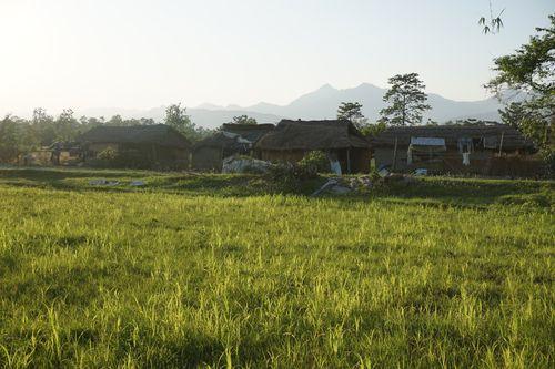 small,houses,gobreni,village,chitwan,nepal