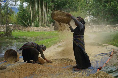 women,tsharang,village,upper,mustang