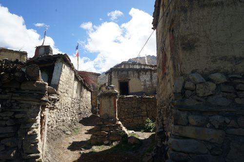 street,purang,village,mustang,nepal