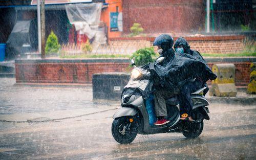 riding,rainy,monsoon,season,patan,lalitpur,nepal