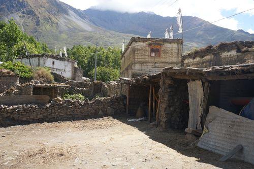 traditional,mustangi,architecture,purang,village,muktinath,nepal
