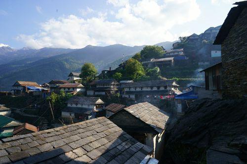 typical,gurung,architecture,bhujung,village,lamjung,nepal