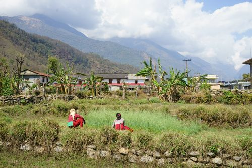 ghachok,village,pokhara,nepal