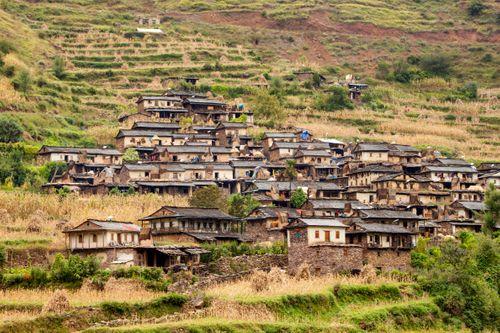 typical,magar,architecture,rukum,nepal