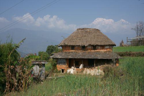 typical,round,house,dhampus,pokhara,nepal