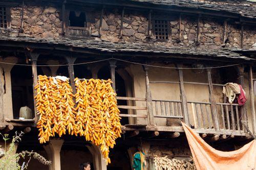 typical,magar,house,rukum,nepal