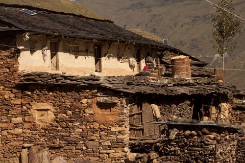 traditional,magar,house,rukum,nepal