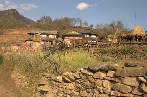 gurung,architecture,pashgaun,village,lamjung,nepal