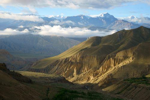 sunrise,ghami,village,upper,mustang,nepal