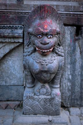statue,located,kathmandu,durbar,square,nepal