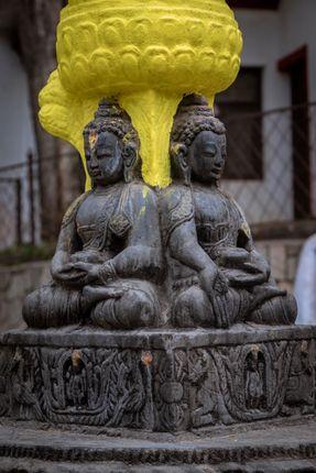 statue,buddha,swayambhunath,kathmandu,nepal,world,heritage,site,declared,unesco