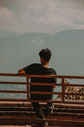 guy,watching,view,uma,maheshwor,temple