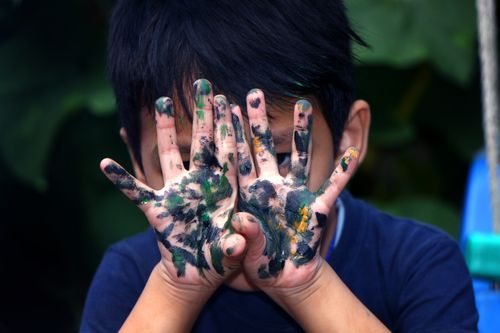 boy,hand,painted,color,paint,#stock,image,#nepal,photographyby,sita,maya,shrestha