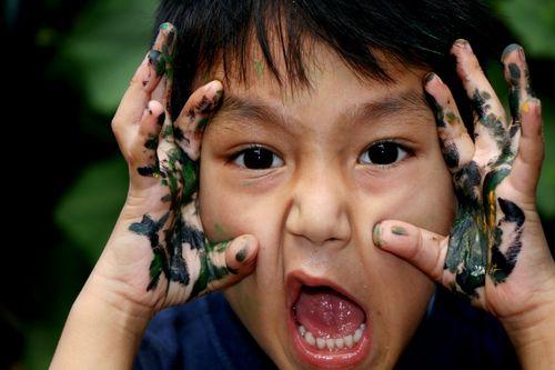boy,hand,painted,color,paint,#stock,image,#nepal,photographyby,sita,maya,shrestha