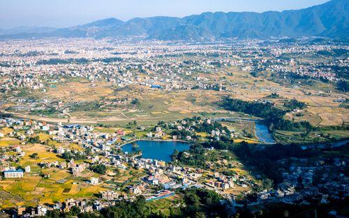 beautiful,aerial,view,taudaha,lake,kathmandu,nepal