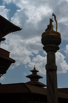 patan,durbar,square,nepal,world,heritage,site,declared,unesco,clear,sunny,day