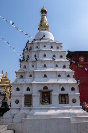 small,stupa,swayambhunath,stupamonkey,temple,kathmandu,nepal,world,hritage,site,declared,unesco