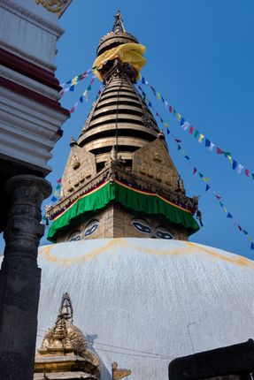 swayambhunath,monkey,temple,located,heart,kathmandu,nepal,declared,world,heritage,site,unesco