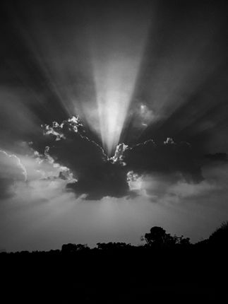 sunbeams,sun,clouds