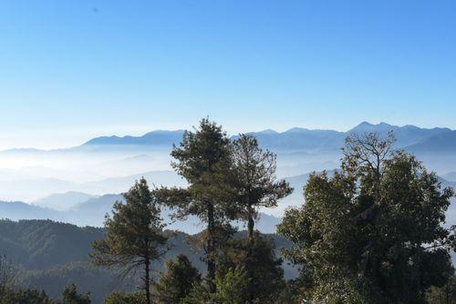 kathmandu,cover,fog,view,nagarkot