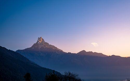 beautiful,landscape,view,mount,fishtail,nepal