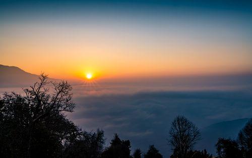 beautiful,sunrise,view,mardi,trek,nepal