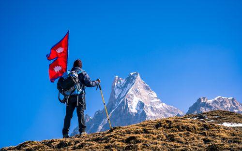 adventure,trekking,mount,fistail,nepal
