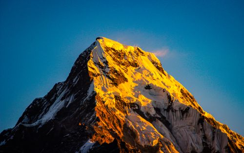 shining,mount,annapurna,south,view,poonhill,nepal