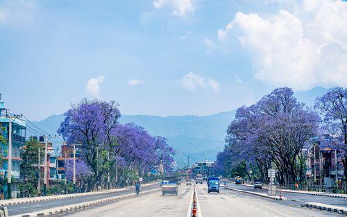 empty,ring,road,lockdown,kathmandu,nepal