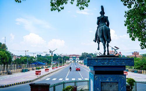 beautiful,view,sighadurbar,road,lockdown,kathmandu,nepal
