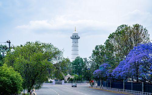 landscape,view,dharahara,lockdown,kathmandu,nepal