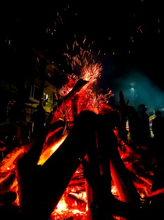 bonfire,celebrate,maha,shivaratri