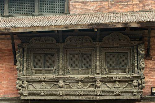 window,carving,patan,durbar,square,nepal,world,heritage,site,declared,unesco