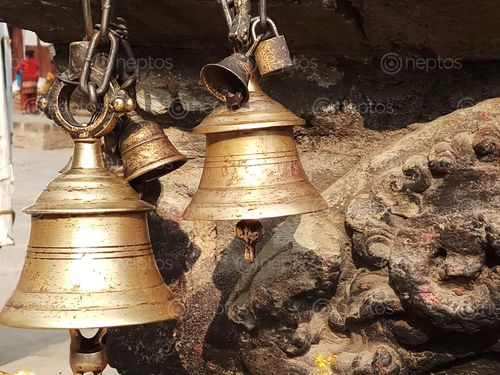 Find  the Image close,bell,photo  and other Royalty Free Stock Images of Nepal in the Neptos collection.