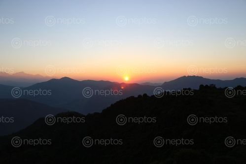 Find  the Image sunrise,bhakunde,baglung  and other Royalty Free Stock Images of Nepal in the Neptos collection.
