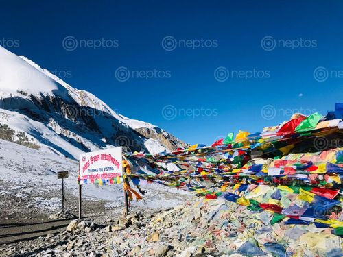 Find  the Image surreal,view,thorang,la,pass  and other Royalty Free Stock Images of Nepal in the Neptos collection.