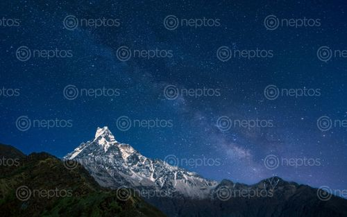 Find  the Image beautiful,night,view,mount,machhapuchhrefishtail,hicamp,mardi,trek,kakski,nepal  and other Royalty Free Stock Images of Nepal in the Neptos collection.