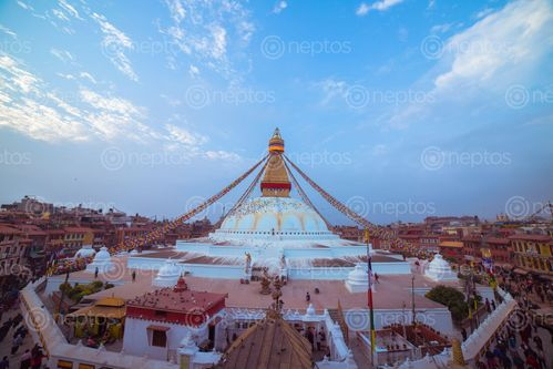 Find  the Image boudhanath,stupa,buddhist,temple,kathmandu,nepal,sacred,sites,tibetan,buddhism,tibet,original,built,woman,sons,historians,date,current,structure,14th,century,ce  and other Royalty Free Stock Images of Nepal in the Neptos collection.