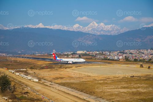 Find  the Image tribhuvan,international,airport,kathmandu,nepal,located,valley,kilometres,city,center,served,airfield,inaugurated,king,mahendra,received,current  and other Royalty Free Stock Images of Nepal in the Neptos collection.