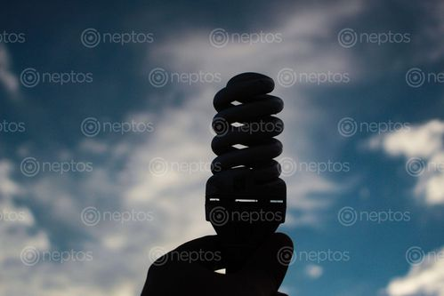Find  the Image light,bulb,shows,surrounding,mind,show,happy,life  and other Royalty Free Stock Images of Nepal in the Neptos collection.
