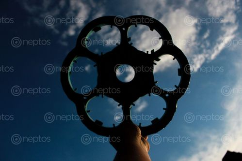 Find  the Image cloth,hanger,put,action,shoot,shadow,picture,beautiful,sky,background  and other Royalty Free Stock Images of Nepal in the Neptos collection.