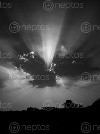 Find  the Image sunbeams,sun,clouds  and other Royalty Free Stock Images of Nepal in the Neptos collection.