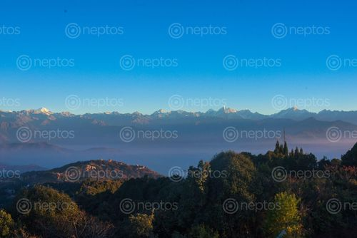 Find  the Image mountain,view,nagarkot  and other Royalty Free Stock Images of Nepal in the Neptos collection.