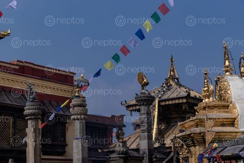 Find  the Image detail,pagoda,statue,buddha,swayambhunath,stupa  and other Royalty Free Stock Images of Nepal in the Neptos collection.