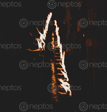 Find  the Image oil,spiritual,preparedness  and other Royalty Free Stock Images of Nepal in the Neptos collection.