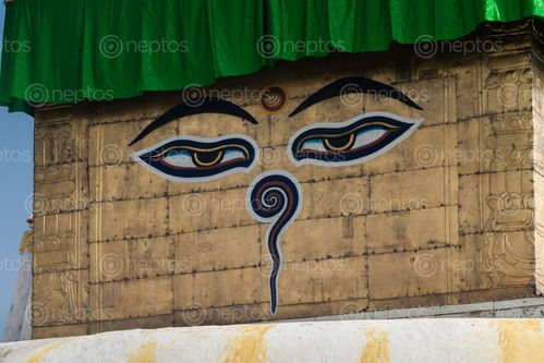 Find  the Image wisdom,eyes,buddha,swayambhunath,kathmandu,nepal,world,heritage,site,declared,unesco,top,travel,destination  and other Royalty Free Stock Images of Nepal in the Neptos collection.